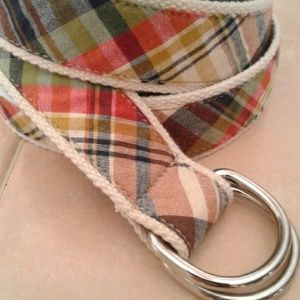 Men's J. Crew Adjustable Plaid Cotton Belt